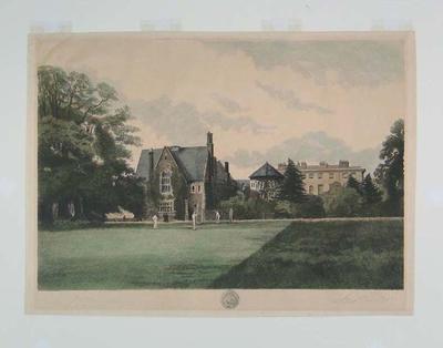 """Etching:      """"Radley College"""""""