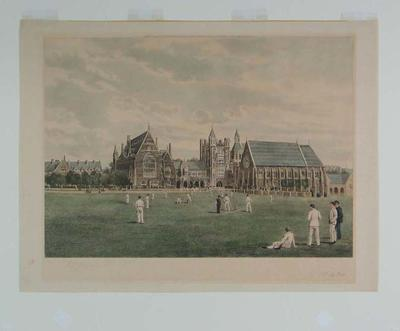Cricket match at  Clifton College c.1891