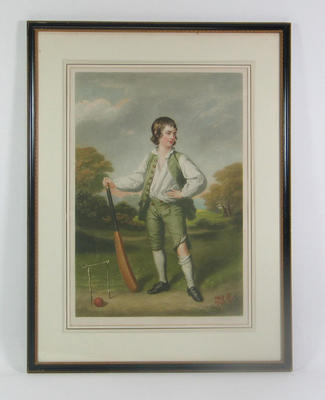 """""""The Cricket Boy"""" - image of  Lewis Cage"""