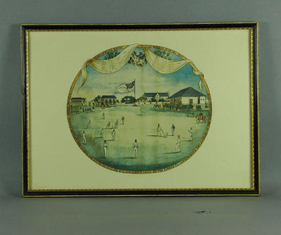 The Grand Jubilee Cricket Match 30 July 1836, Marylebone Club, Lord's Ground; Artwork; Framed; M6237