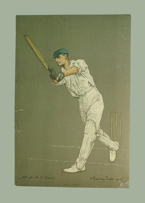 Lithograph of  W.H.B Evans, artist A. Chevallier Tayler, 1905