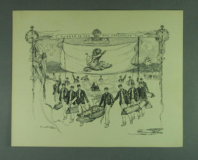 Menu - 'Dinner to the M.C.C. Australian Team, 22 April 1904'