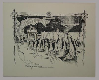 Menu - 'Dinner to the M.C.C. Australian Team, 1st May 1912'