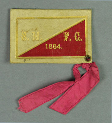 South Melbourne Football Club Member's ticket -  Season 1884, W. Treadaway