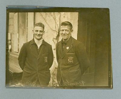 Photograph of Ernest Bainbridge and Hubert Opperman, 14 May 1928 France