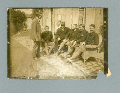 Photograph 1928 Tour de France team relaxing in France