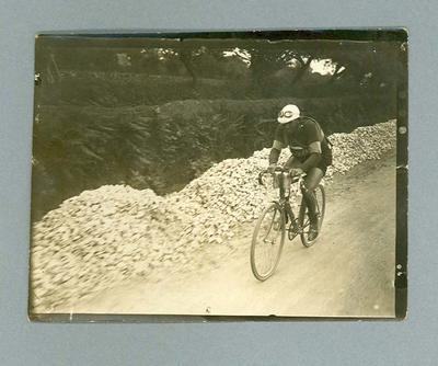 Photograph of a cyclist during 1928 Tour de France