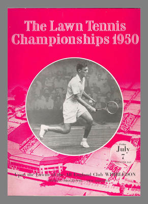 Official Programme for The Lawn Tennis Championships at Wimbledon, 7 July 1950