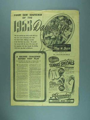 Souvenir of 1953 Davis Cup