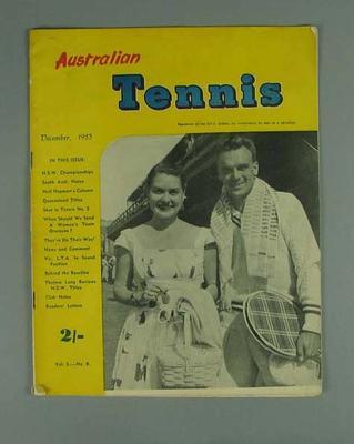 Australian Tennis, December 1953, Vol 5 - No 8