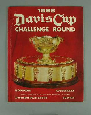 Magazine - 1966 Davis Cup Challenge Round at Kooyong.; Documents and books; 1989.2091