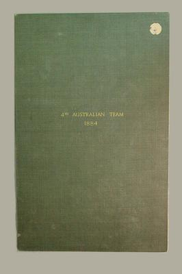 Agreement regarding press coverage of 1884 Australian cricket tour of England, 6 March 1884; Documents and books; M6086.2