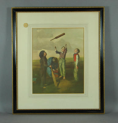 Tossing for Innings - print from original painting by R. James