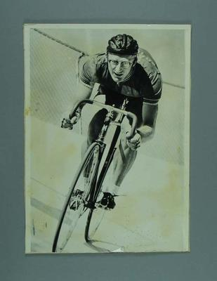 Photograph of cyclist Russell Mockridge; Photography; 1987.1766.8