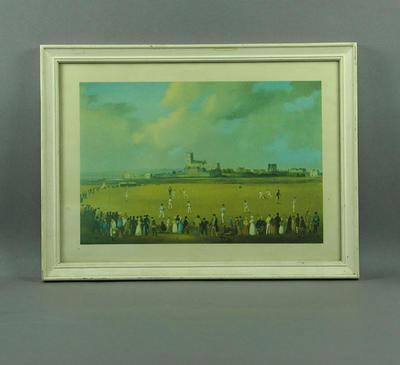 Framed print, Cricket at Christchurch, Hampshire, c.1850
