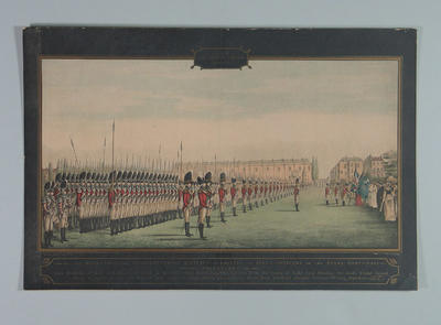 Presentation of Colours at Lord's 27 July 1797, artist Henry Matthews