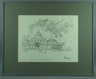 Print - Hong Kong Cricket Club, Chater Road, 1975 - edition 92/200; Artwork; Framed; M6147