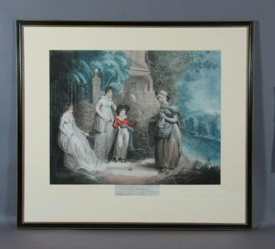 """Lithograph - """"Ballad Singer"""", published by J. Peirson, 1804"""