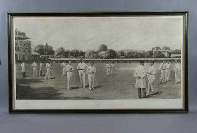 """Print, """"Lord's on a Gentlemen v Players Day 1895""""; Artwork; M6153"""