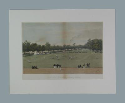 """Cricket Match, Royal Military Academy, Woolwich"", artist W. Paris 1888"