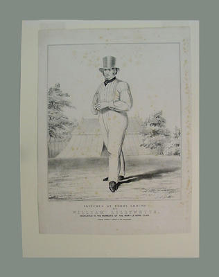 'Sketches at Lords Ground, No. 2, William Lillywhite'
