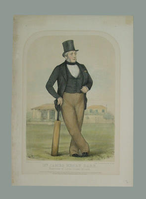 """""""Mr James Henry Dark"""" Sketches at Lords No. 1, by John C. Anderson 1852"""