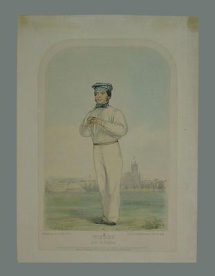 """Wisden"" (John Wisden), Sketches at Lords No. 6, by John C. Anderson 1852"