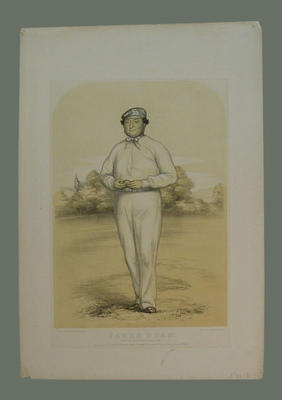 """English cricketer:    """"James Dean"""" - born at Duncton, Sussex, 1816"""