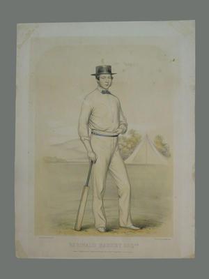 English Cricketer - 'Reginald Hankey Esq.'