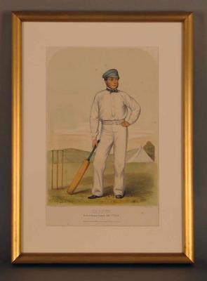 English cricketer:  'Caffyn - Born at Reigate, Surrey, Feby. 2nd 1828'
