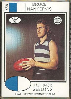1975 Scanlens VFL Football Bruce Nankervis trade card