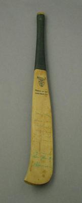 Miniature bat, model of cricket bat c1770