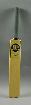 """Miniature bat, """"Australia 1981"""""""