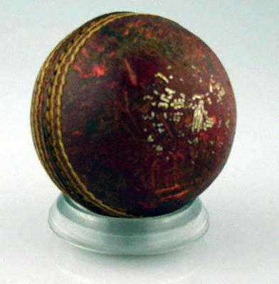 Cricket ball associated with hat trick completed by W M Tully