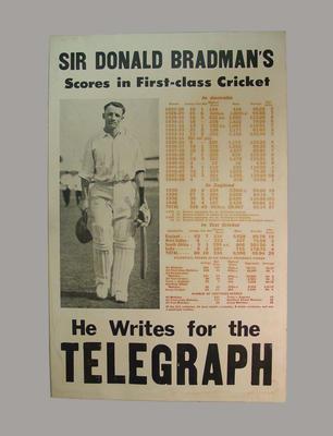 "Billboard, ""Sir Donald Bradman ... Writes for The Telegraph"""