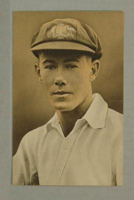1936-37 Amalgamated Press (Triumph) Test Match Favourites W A Brown postcard