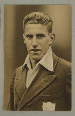 1936-37 Amalgamated Press (Champion) Stars of the Test Matches A Fagg postcard