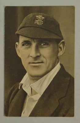 1936-37 Amalgamated Press (Triumph) Test Match Favourites L Fishlock postcard