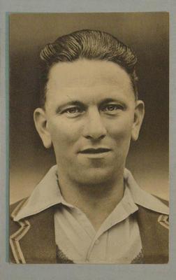 1936-37 Amalgamated Press (Triumph) Test Match Favourites M Leyland postcard
