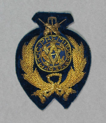 Bullion badge won by Melbourne Cricket Club, VCA Premiers 1937-38