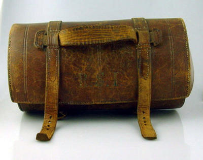 Lawn bowls carry bag, used by R S Inglis