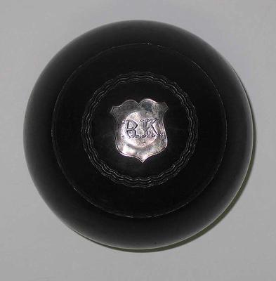 Lawn bowl, used by R Kennedy