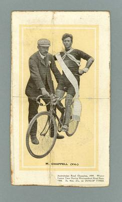 Photograph of Matt Chappell, Australasian Road Champ 1908; Photography; 1988.1948.1