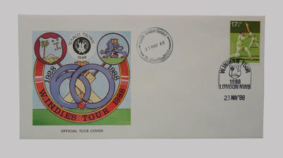 First day cover, West Indies cricket tour of England - Texaco Trophy, 23 May 1988