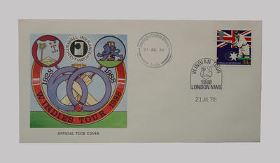 First day cover, West Indies cricket tour of England - Test Series, 21 July 1988
