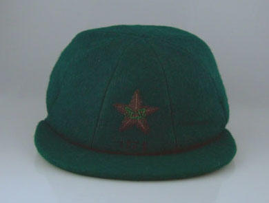 Pakistan cricket cap, worn by Wasim Raja