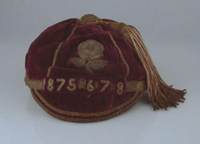 Rugby union international honours cap, England, 1875