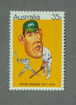Postage stamp, image of Victor Trumper