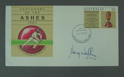 First day cover, Centenary of the Ashes - Dungog, 24 Feb 1982