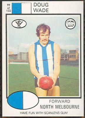 1975 Scanlens VFL Football Doug Wade trade card